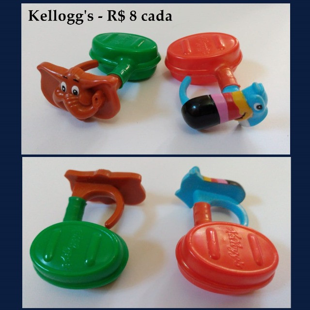 Coleções Nestlé Kellogg's Parmalat brinquedos