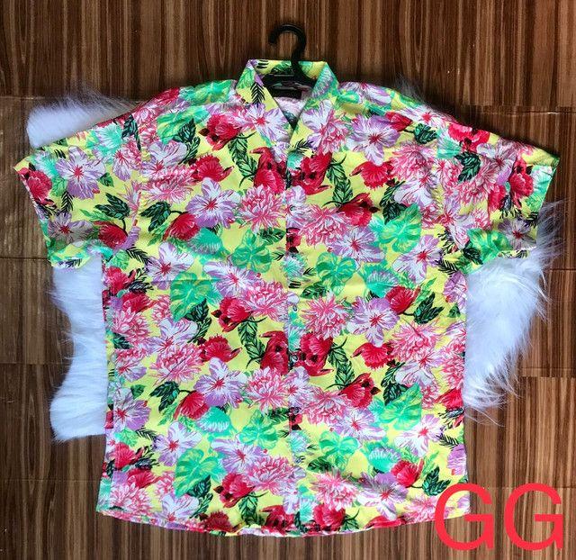 Camisas floridas em viscose - Foto 6