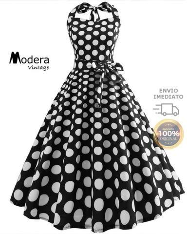 2a6cbd682 Vestido De Bolinha Anos 60 Festa Vintage Retrô Bola 50 Pin37 ...