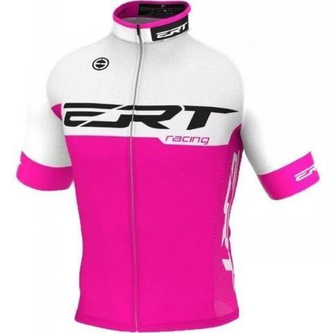 Camisa De Ciclismo Elite Ert Racing Rosa Slim Fit