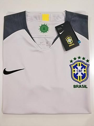 Camisa Brasil Goleiro Cinza 18/19 - Foto 2