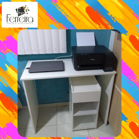 27. Promoção Mesa Escrivaninha 90cm - Entrega Grátis toda Manaus :) - Foto 3