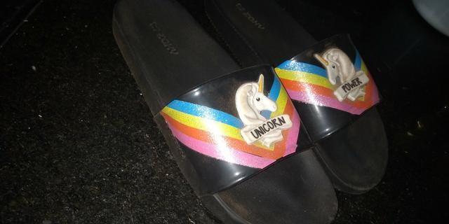 Sandália do unicórnio 20R$
