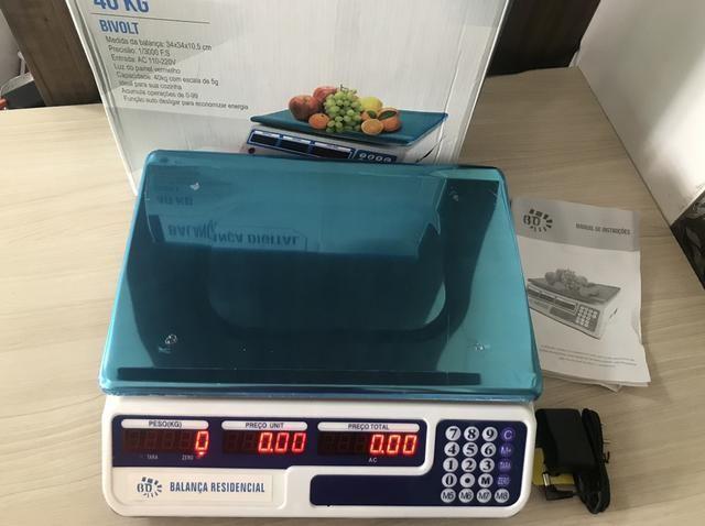Balança Digital Comercial 40kg bivolt Nova na caixa completo com garantia 179$ LIQUIDANDO