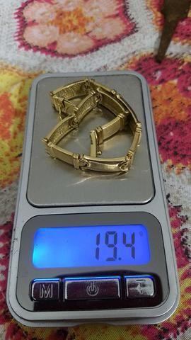 155.00 a grama Bracelete de ouro 18k