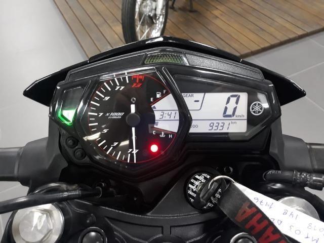 MT 03 Azul 2018 / linda moto , semi nova na Yamaha de Sapiranga, consulte! - Foto 5