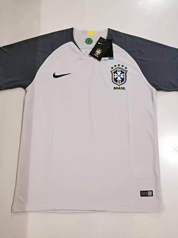 Camisa Brasil Goleiro Cinza 18/19