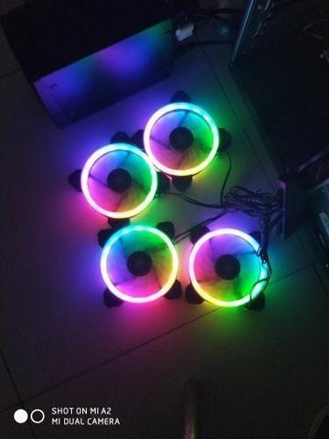 4 Coolers RGB + 1 Fita LED