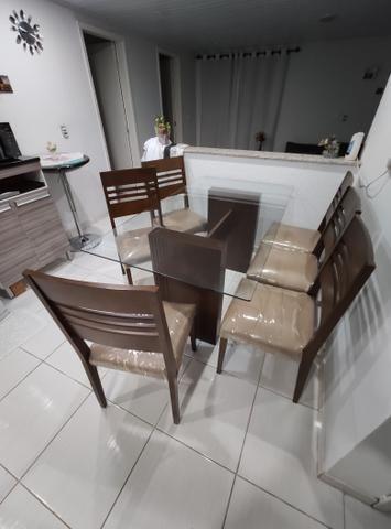 Mesa com 6 cadeiras 1,60x0,90 - Foto 2