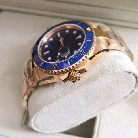 cb908d84840 Relógio Rolex Submariner Eta Azul E Ouro +caixa E Documentos ...