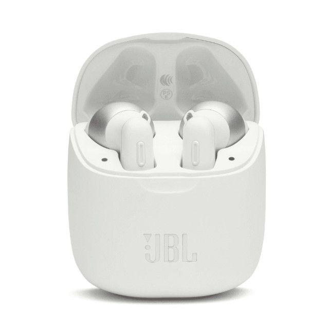 Fone de ouvido Bluetooth JBL T220 TWS Branco Original (Lacrado)