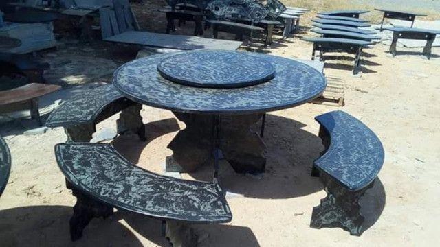 Conjunto de mesa de ardósia - Foto 6