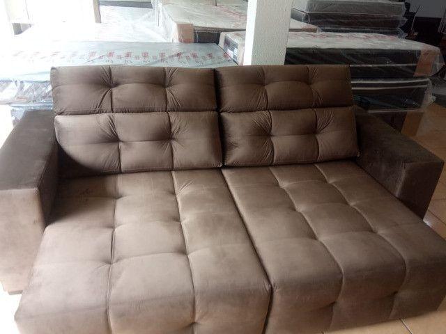 Sofá retrátil e reclinável 2,45 - Foto 2