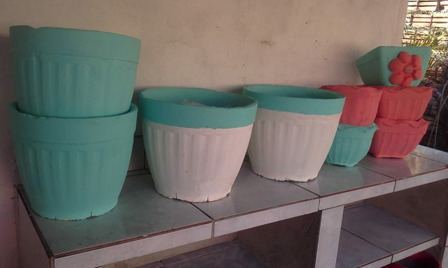 9 Vasos de cimento