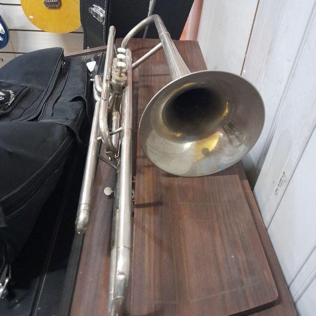 Trombone De Pisto Weril Antigo Revisado Na Musical Brother - Foto 2