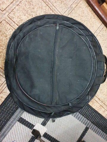 Bateria Groovin com peles hidráulicas RMV + 6 Pratos Orion + Bolsa+ clamp+banco - Foto 6
