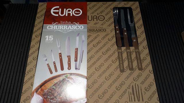 Conjunto para Churrasco 15 pecas ; Novo - Foto 3
