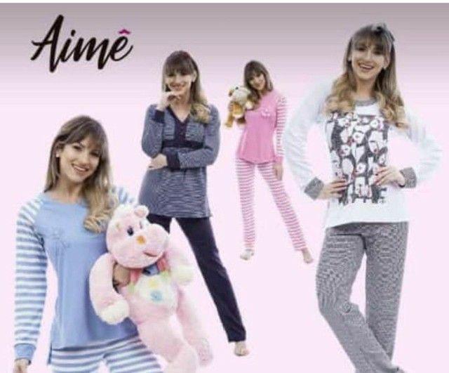 Pijamas Aime novos molicoton suedine presente dia das mães