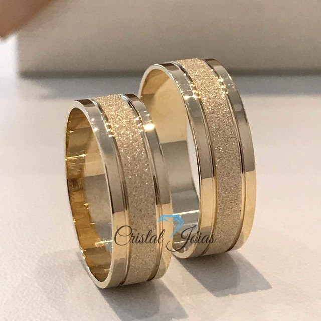 Par de aliança moedas antigas cor ouro  - Foto 2