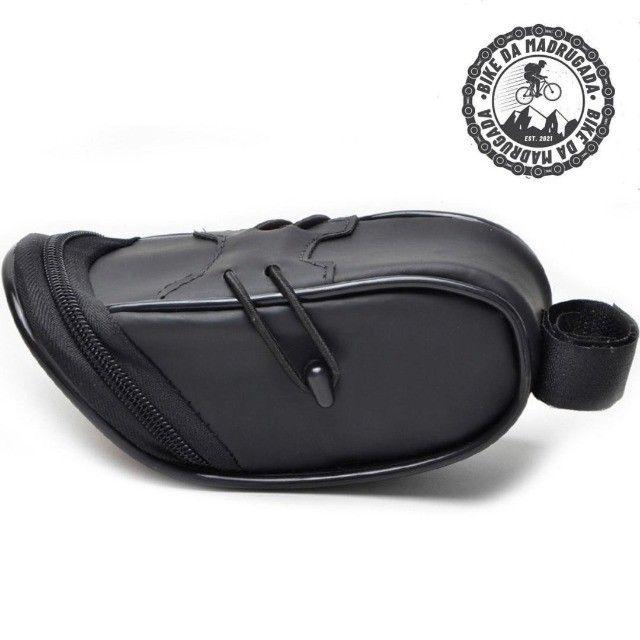 Bolsa de Selim resistente e compacta para bicicleta bike ciclismo - Foto 3