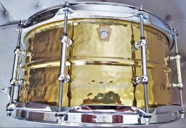 Caixa Ludwig Supraphonic Hammered Brass 14x6,5  - Foto 4