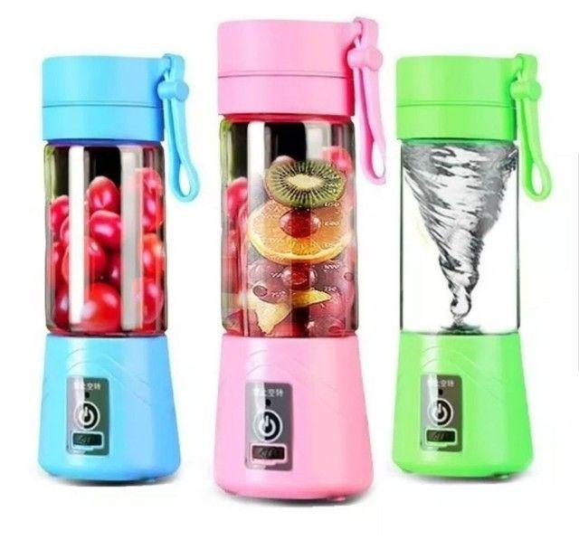 Mini Liquidificador Portátil Shake Juice Cup e Cabo Usb<br><br>