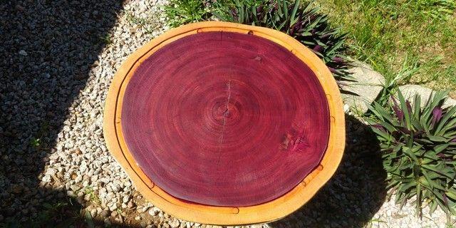 Tábua para churrasco e frios em madeira Roxinho - Foto 2
