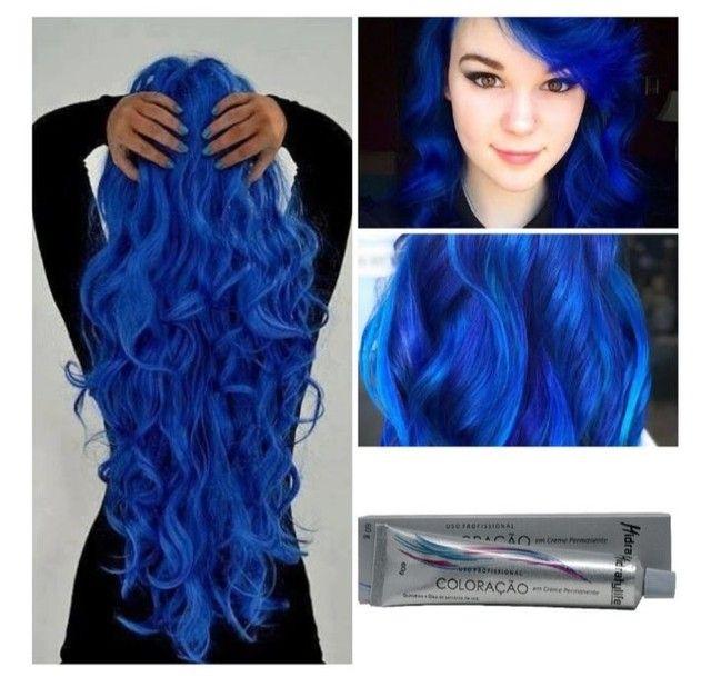 Tinta Cabelo Azul Royal Coloração Hidratylife Mairibel 60g