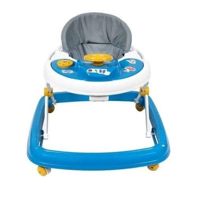 Andador Infantil Para Bebê Regulagem de Altura Styll Baby Azul - Foto 2