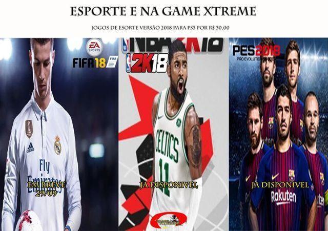 NBA 2K 18, FIFA18 e PES18 Em Midia Digital (PS3) / R25,00 (Cada)