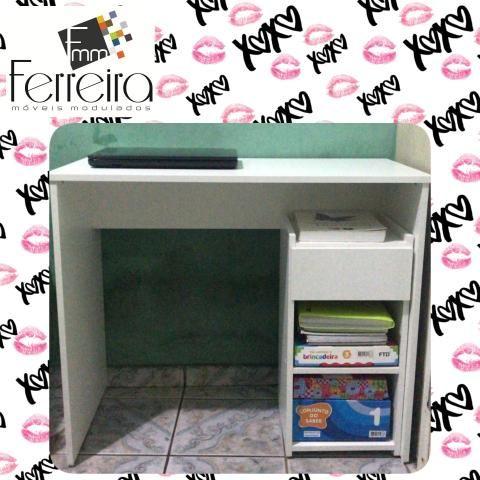 27. Promoção Mesa Escrivaninha 90cm - Entrega Grátis toda Manaus :) - Foto 4