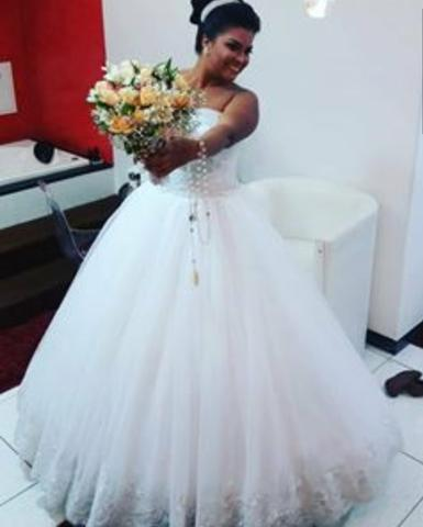 Vestido de noiva princesa. - Foto 3
