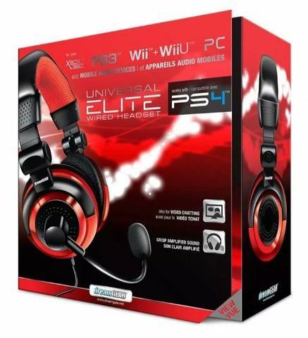 Headset Universal Elite Wired Novo PS4/XBox, etc