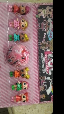 LOL kit com 7 bonecas apenas 79 reais