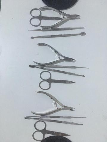 3 kits de alicates para manicure