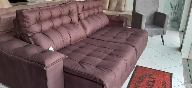 Sofa Todo retrátil e reclinável últimas peças parcelo em 10x sem juros