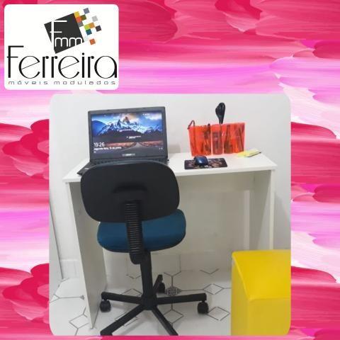 27. Promoção Mesa Escrivaninha 90cm - Entrega Grátis toda Manaus :) - Foto 6