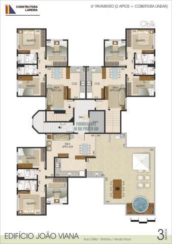 Apartamento à venda com 3 dormitórios em Sinimbu, Belo horizonte cod:3625 - Foto 6