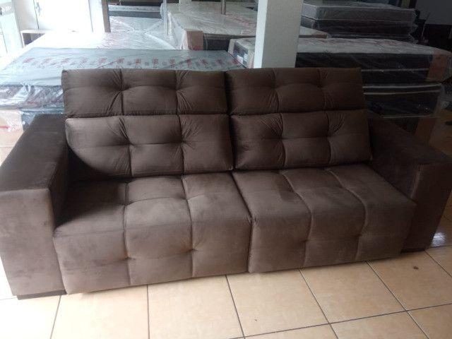 Sofá retrátil e reclinável 2,45 - Foto 3