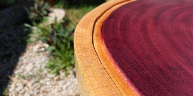 Tábua para churrasco e frios em madeira Roxinho - Foto 6