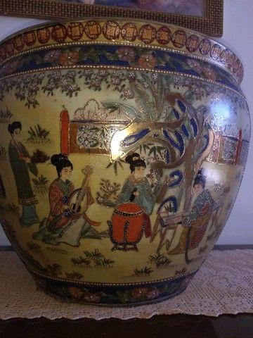vaso aquário de porcelana chinesa antigo século XIX - Foto 5