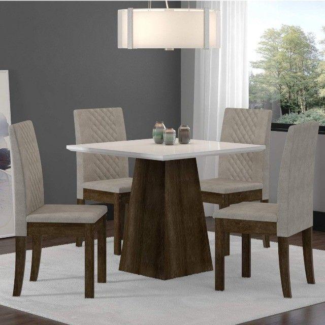 Mesa de Jantar 4 Cadeiras Cristal -- Entrega e montagem Na Hora