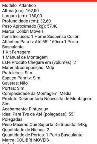 HOME PARA SALA DE ESTAR; DE 700 R$ por 380 R$ - Foto 6
