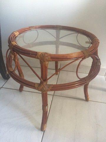 Conjunto de 4 cadeiras giratórias de bambu  - Foto 2