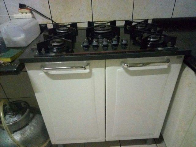 Fogão cooktop com armário de aço Itatiaia. - Foto 6