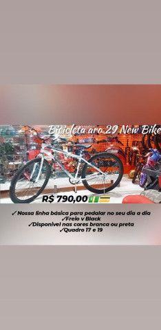 Promoção de Reinauguração Bicicleta aro 29 New Bike Loja Mega Bike