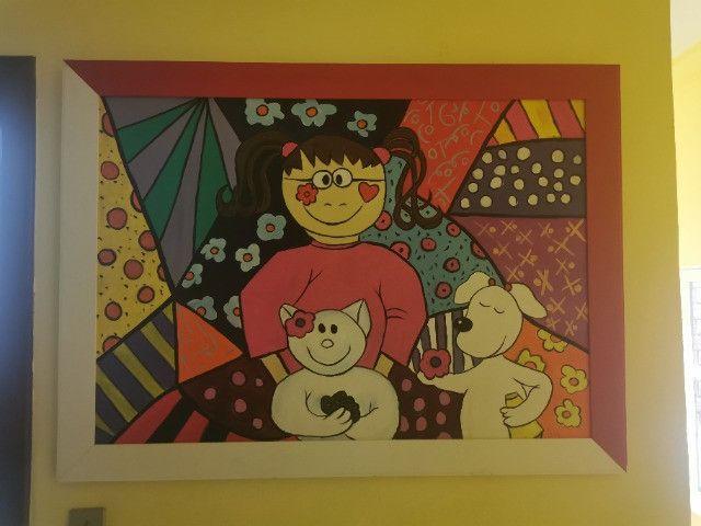 Quadro Pintura a óleo- infantil tema cubismo