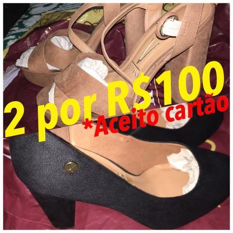 2 sapatos por R$100 tamanho 37 (vendo também separado)