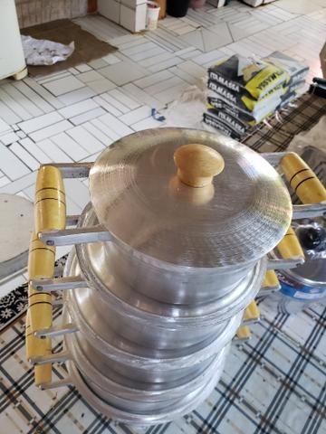 Panelas de alumínio batido - Foto 2