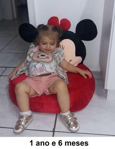 Poltrona Infantil Mini Sofá Puff Cavalo Stitch e Angel - Foto 5